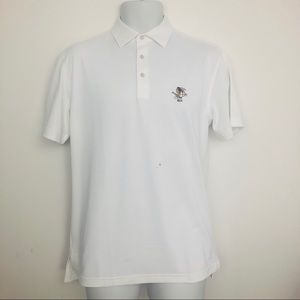 Peter Millar men's white polo shirt Size small